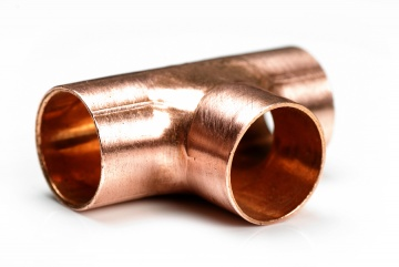 Copper tee 22 mm