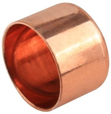 Copper end cap 22 mm