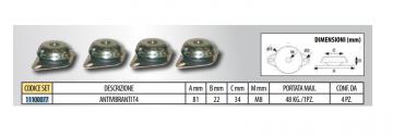 Tecnosystemi T4 (81 x 40 mm) vibration damper