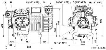 Compresor Dorin H 8001 CC, seria H7