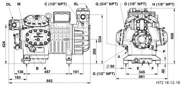 Compresor Dorin H 9000 CC, seria H7