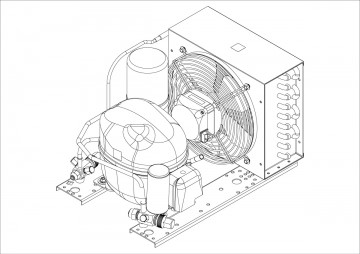 Embraco condensing unit sketch