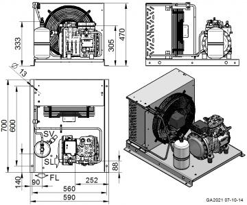 Unitate de condensare Dorin - AU-H80CC