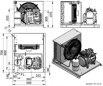 Unitate de condensare Dorin - AU-H101CS