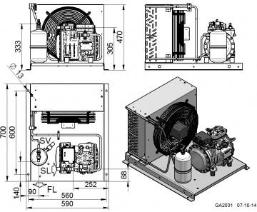 Unitate de condensare Dorin - AU-H151CC
