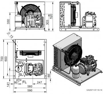 Unitate de condensare Dorin - AU-H201CC