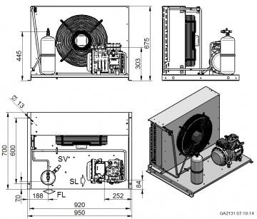 Unitate de condensare Dorin - AU-H281CC