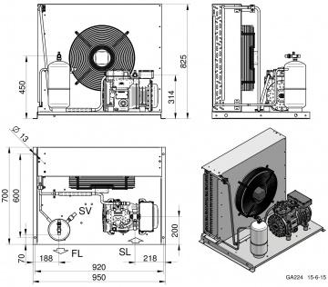 Unitate de condensare Dorin - AU-H300CC