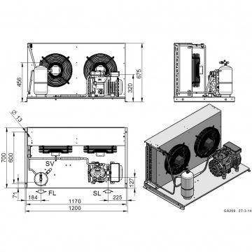 Unitate de condensare Dorin - AU2-H300CC