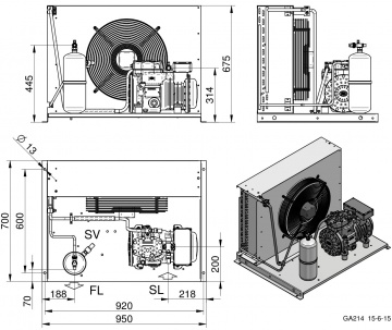 Unitate de condensare Dorin - AU-H300CS