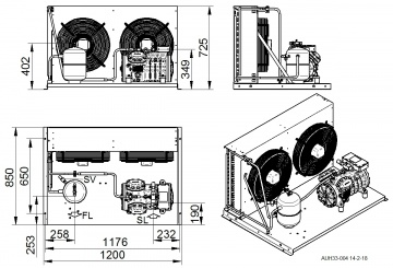 Unitate de condensare Dorin - AU2-H505CS