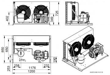 Unitate de condensare Dorin - AU2-H705CC