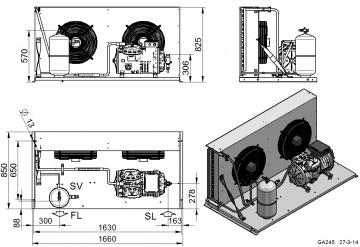 Unitate de condensare Dorin - AU2-H1001CS