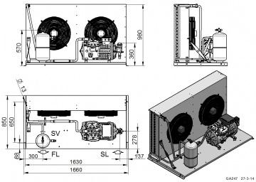 Unitate de condensare Dorin - AU2-H2001CC