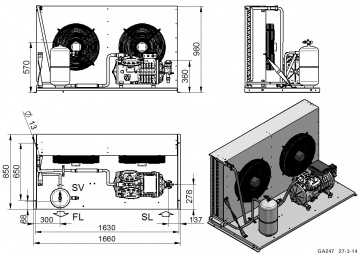 Unitate de condensare Dorin - AU2-H1601CS