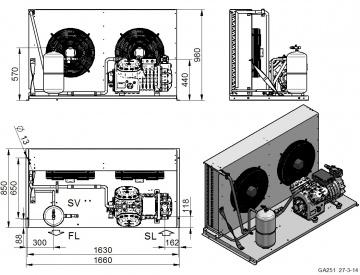 Unitate de condensare Dorin - AU2-H2000CS