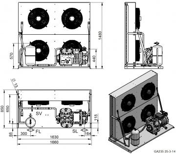 Unitate de condensare Dorin - AU4-H5001CC